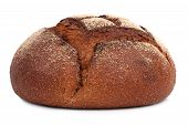 picture of ruddy-faced  - A delicious freshly baked rye bread ruddy on a white background - JPG