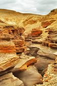 A Red canyon in mountains about Elat in Israel