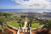 Landscape -  Haifa and Mediterranean sea