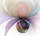 Abstract Fractal Color Texture. Digital Art. Abstract Form & Colors. Abstract Fractal Element For Yo poster