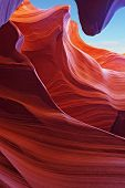 Scenic color slot Antelope canyon . Navajo Reservation, USA