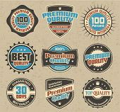 Premium Quality and Satisfaction Guarantee Label retro collection