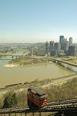 view of Pittsburgh skyline from Duquesne Incline