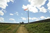 fort fence and flag