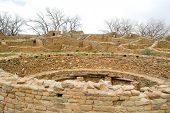 ruins of a native american indian kiva