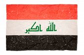 damaged Flag of Iraq