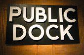 Public Dock sign