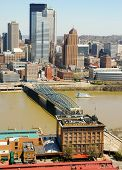 Monongahela Incline and Pittsburgh Skyline