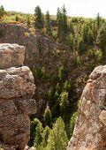 Black Canyon das formações de rocha de Gunnison