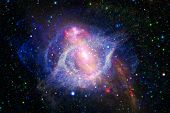 Beautiful Nebula, Starfield, Cluster Of Stars In Outer Space. Science Fiction Art. Elements Of This  poster