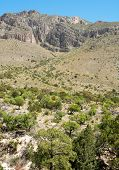 foto of stagecoach  - Tejas Canyon cliffs - JPG