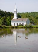 hale farm and village historic site church and lake