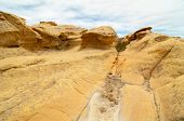 yellow and orange sandstone rock formations