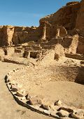 Pueblo Bonito ruins and kiva