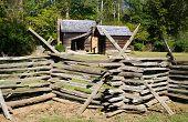 Oconaluftee Mountain Farm Museum village