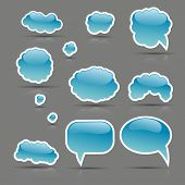 Glare vector bubbles set