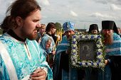 TOMSK, RUSSIA - AUGUST 9: Orthodox Procession from Tomsk and celebrations devoted to the second find