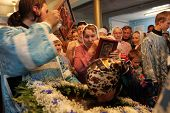 TOMSK, RUSSIA - AUGUST 9: Orthodox  celebrations devoted to the second finding of a wonder-working i
