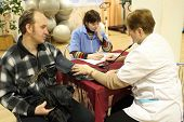 PODPOROZHYE, RUSSIA - JANUARY 28: Day of Health in Center of social services for pensioners and the