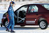 MOSCOW, RUSSIA - FEBRUARY 23: Racing driver Firdaus Kabirov during the 21st traditional