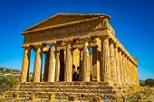 Valley Of The Temples, The Temple Of Concordia, Ancient Greek Temple, Agrigento poster