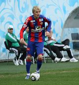 MOSCOW - MAY 10: CSKA's Milos Krasic in action during their team's Russian football championship gam