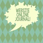 Handwriting Text Writing Website Online Journal. Concept Meaning Periodical Publication Published In poster