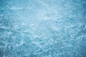 Blue Ice In Skate Scratches, Close View poster