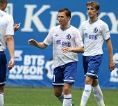 MOSCOW - JULY 3: Dinamo's midfielder Igor Semshov (C) in the VTB Lev Yashin Cup: FC Dynamo Moscow vs