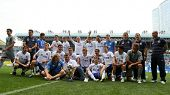 MOSCOW - JULY 3: Team Dynamo Moscow's after winning the match the VTB Lev Yashin Cup: FC Dynamo Mosc