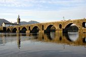 bridge and church of Ponte de Lima in Portugal