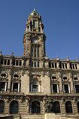 Porto, Town Hall at Avenida dos Aliados. In the north of Portugal