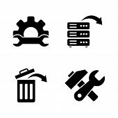 Data Recovery, Repair. Simple Related Vector Icons Set For Video, Mobile Apps, Web Sites, Print Proj poster