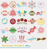 Vintage Mixed Candy Labels