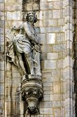 stock photo of castello brown  - a statue of a women in the front of the duomo - JPG