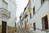 Steep Narrow Street In The Ancient Ronda