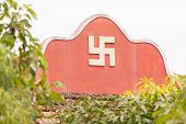 Swastika Symbol On Top Of A Temple