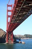 unter der golden Gate bridge