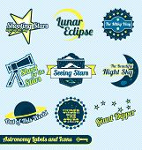 Vintage Astronomy and Stars Labels
