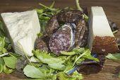 Salami And Pecorino