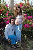 Young Happy Pregnancy Woman & Her Husband