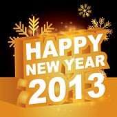 3D vector , Happy new year 2013