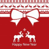 Greeting New Year Card, Scandinavian design