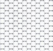 Tiled graphene sheet model