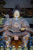 stock photo of shogun  - Statue of Shogun Ieyasu at Toshogu Shrine - JPG