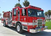 Los Angeles Fire Truck, Venice Beach, Ca