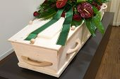 Coffin In Morgue