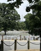 Arlington National Cemetery And The Washington Monument