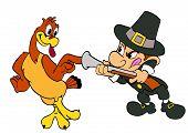 Thanksgiving Turkey And Pilgrim