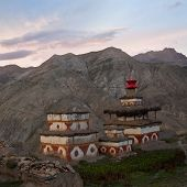 Ancient buddhist stupa and chortens in Nepal